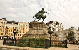 Monument to Bohdan Khmelnytsky in Kiev Stock Photography