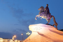 Monument to the Bronze Horseman in the evening, St. Petersburg Stock Image