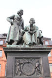 Monument to the brothers Grimm in Hanau, Germany. Royalty Free Stock Photos