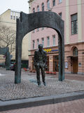 The monument to Bulat Okudzhava on Stary Arbat, Moscow, Russia Royalty Free Stock Photography