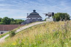 Monument to the bull. In Rakvere, Estonia stock photography