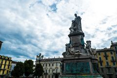 Monument to Camillo Benso of Cavour, Vittorio Emanuele II Square Stock Image