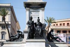 Monument to Camillo Benso di Cavour in Piazza Cavour, Rome, Italy Stock Photo