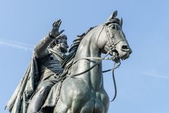 Monument to Carl August in Weimar. In front of blue sky royalty free stock image