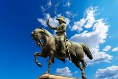 Monument to Carlo Alberto - Turin Italy Stock Photography
