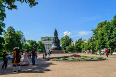 Monument to Catherine II in St. Petersburg Stock Photography