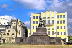 Monument to cavalry in Samara, Russia. Royalty Free Stock Image