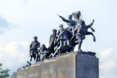 Monument to cavalry in Samara, Russia. Stock Photography