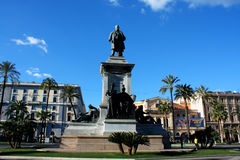 Monument to Cavour on the square of its name in Rome, Italy Stock Image