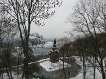 Monument in Kiev. Monument to cent Vladimir in Kiev Stock Photos