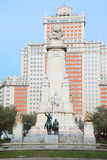 Monument to Cervantes, Don Quixote and Sancho Panza Royalty Free Stock Images