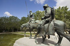 Monument to Cervantes in Madrid, Spain Stock Image
