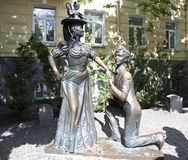 Monument to the characters of the Comedy For two hares . Kiev Royalty Free Stock Photo