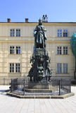 Monument to Charles IV in Prague. Stock Photos