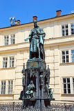 Monument to Charles IV in Prague Royalty Free Stock Photo