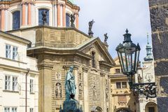 Monument to Charles IV in Prague. Statue of Charles IV in Prague. Architecture of Prague royalty free stock images