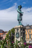 Monument to Charles XI in Karlskrona Stock Image