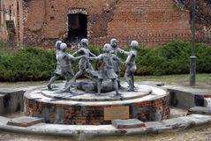 Monument to children in Volgograd Stock Photos