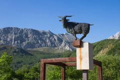 Monument to Chivo in the Mountain Stock Images