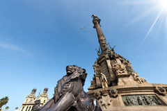 Monument to Christopher Columbus - Barcelona royalty free stock photo