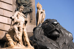 Monument to Christopher Columbus - Barcelona royalty free stock photos