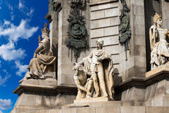 Monument to Christopher Columbus - Barcelona Royalty Free Stock Photography