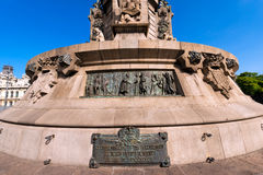 Monument to Christopher Columbus - Barcelona Stock Photo