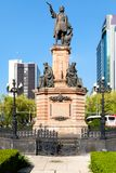 Monument to Christopher Columbus at Paseo de La Reforma in Mexico City royalty free stock photo