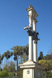 Monument to Christopher Columbus in Seville in Andalucia Spain Stock Photo