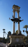 Monument to Christopher Columbus in Seville Andalucia Spain Royalty Free Stock Images