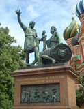Monument to citizen Mininu and prince Pozharskomu. On the Red area in Moscow Stock Photos