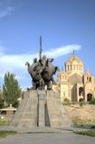 Monument to the commander Andranik Ozanyan (Zoravar Andranik). Royalty Free Stock Image