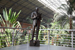 Monument to commercial agent Atocha railway station Stock Photography