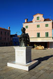Monument to the composer Baldassare Galuppi, Burano Island, Veni Royalty Free Stock Photography