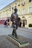 Monument to composer Sergei Prokofiev in Moscow stock photo