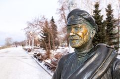 Monument To Comrade Sukhov, The Main Character Of The Movie Royalty Free Stock Photo