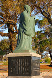 The monument to Confucius in park Rodo, Montevideo. The picture was made in Montevideo, Uruguay Royalty Free Stock Photography