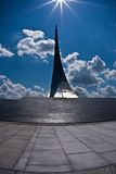 Monument to the Conquerors of Space. On the Cosmonaut alley in Moscow, Russia Royalty Free Stock Images