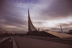 The monument to the conquerors of space. ALL-RUSSIAN EXHIBITION CENTRE. Moscow. Stock Photography