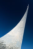 Monument to the Conquerors of Space in Moscow Stock Image