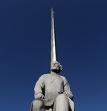 Monument to the Conquerors of Space, Moscow Stock Images