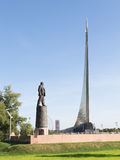 Monument to the Conquerors of Space and Sergei Korolev Stock Photo