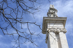Monument to the Constitution of 1812, Decorative detail Stock Photo