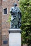 Monument to Copernicus of Torun in Poland Stock Photo
