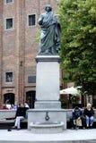 Monument to Copernicus of Torun in Poland Royalty Free Stock Photos