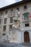 Monument to Cosmo Medici and Scuola Normale Superiore, Pisa, Italy Stock Image