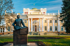 Monument to Count Nikolai Rumyantsev near Palace Stock Photos