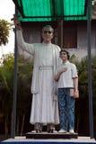 Monument to the Croatian Jesuit missionary Ante Gabric in Kumrokhali, India Royalty Free Stock Image