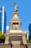 The Monument to Cuahutemoc at Paseo de la Reforma in Mexico City. Inaugurated in 1887 royalty free stock photos
