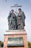 A monument to Cyril and Methodius. Royalty Free Stock Image